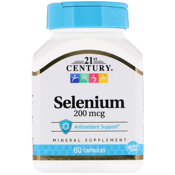 Selenio, 200 mcg, 60 cápsulas