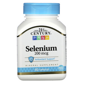 21 Сенчури, Selenium, 200 mcg, 60 Capsules отзывы