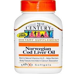 21st Century, Norwegian Cod Liver Oil, 110 Softgels