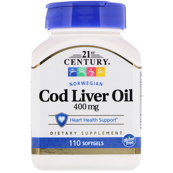 Norwegian Cod Liver Oil, 400 mg, 110 Softgels