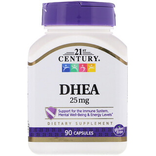 21st Century, DHEA, 25 mg, 90 Capsules