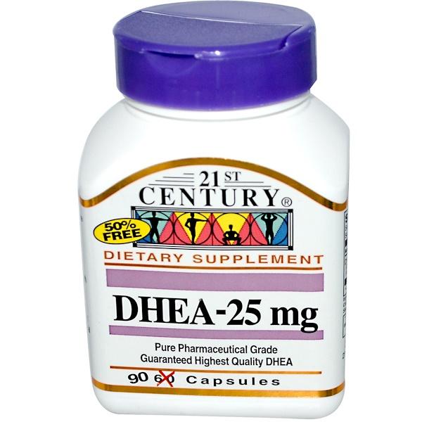 21st Century, DHEA-25 mg, 90 Capsules