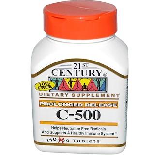 21st Century, C-500, Prolonged Release, 110 Tablets