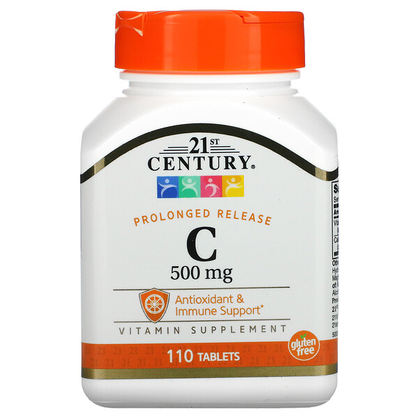 вітамінC, з уповільненим вивільненням, 500мг, 110таблеток