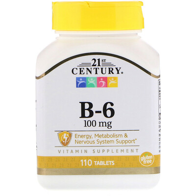 Витамин B6, 100 мг, 110 таблеток магний 250 мг 110 таблеток