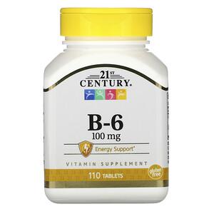 21 Сенчури, B-6, 100 mg, 110 Tablets отзывы