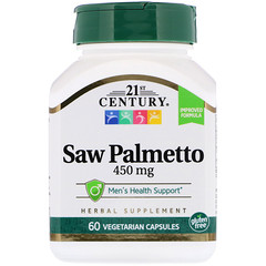 21st Century, Saw Palmetto, 450 mg, 60 Vegetarian Capsules