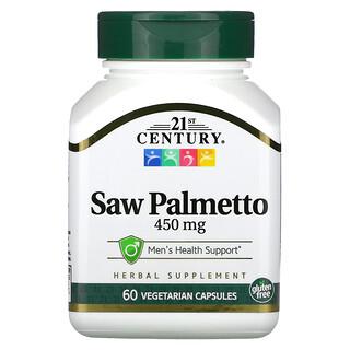 21st Century, Saw Palmetto, 450 mg, 60 Vegetarian Capsules