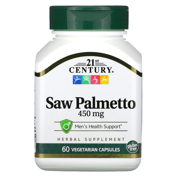 Saw Palmetto, 450 mg, 60 Vegetarian Capsules