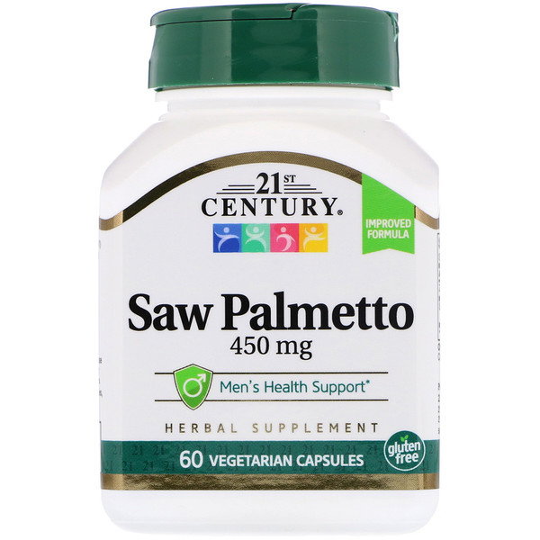 21st Century, Saw Palmetto Extract, Standardized, 60 Vegetarian Capsules