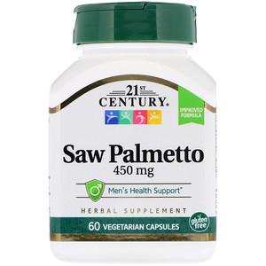 21st Century, Saw Palmetto Extract, Standardized, 60 Vegetarian Capsules