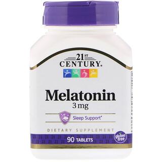 21st Century, Melatonin, 3 mg, 90 Tablets