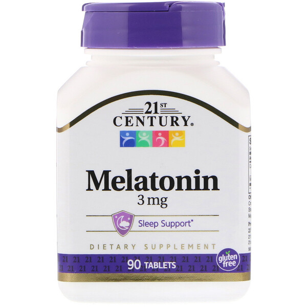 21st Century, Melatonin, 3 mg, 90 Tablets