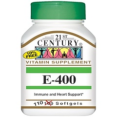 21st Century, E-400, 110 Softgels