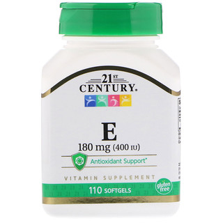 21st Century, Vitamin E, 180 mg (400 IU), 110 Softgels