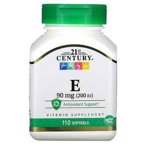 21 Сенчури, E, 90 mg (200 IU), 110 Softgels отзывы покупателей