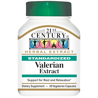 21st Century, Valerian Extract, Standardized, 60 Veggie Caps