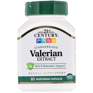 21st Century, Valerian Extract, Standardized, 60 Vegetarian Capsules