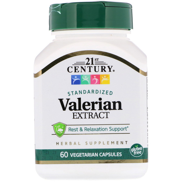 21st Century, Valerian Extract, Standardized, 60 Vegetarian Capsules (Discontinued Item)