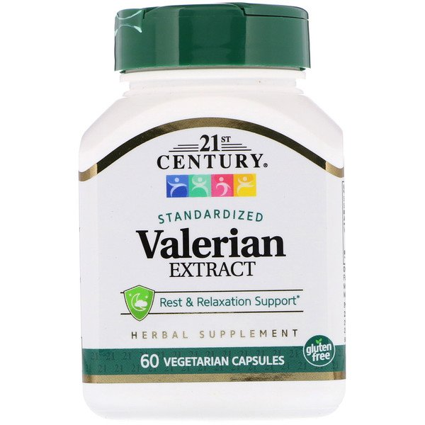 Valerian Extract, Standardized, 60 Vegetarian Capsules
