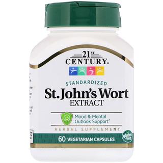 21st Century, St. John's Wort Extract, 60 Vegetarian Capsules