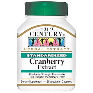21st Century, Cranberry Extract, Standardized, 60 Veggie Caps