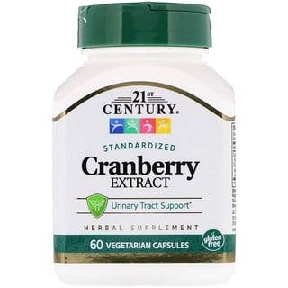 21st Century, Cranberry Extract, Standardized, 60 Vegetarian Capsules