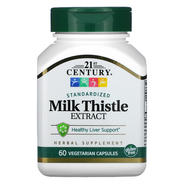 21st Century, Standardized Milk Thistle Extract, 60 Vegetarian Capsules