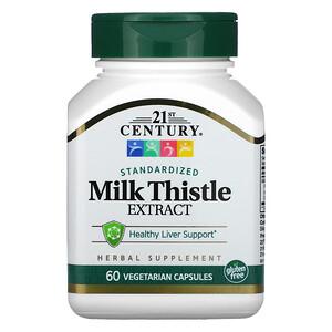 21 Сенчури, Milk Thistle Extract, Standardized, 60 Vegetarian Capsules отзывы покупателей