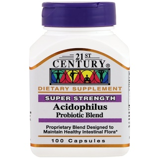 21st Century, Acidophilus Probiotic Blend, 100 Kapseln