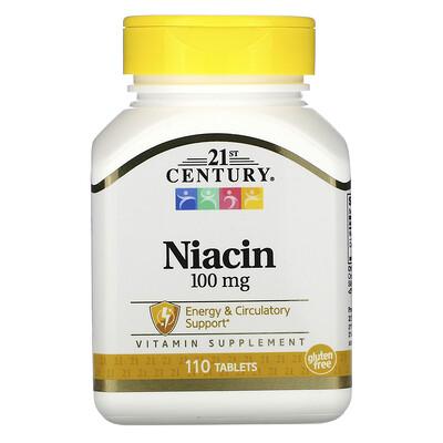Купить 21st Century Ниацин, 100мг, 110таблеток