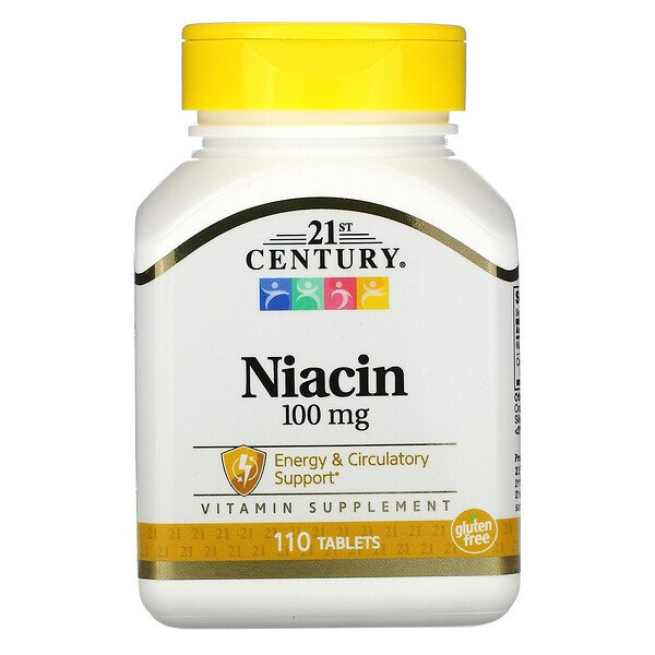 "21st Century, ""Niacin, 100 mg, 110 Tabletten"""