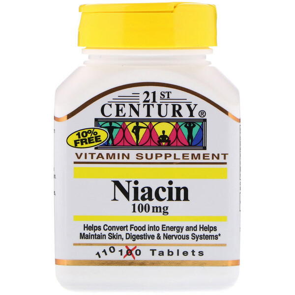Niacin, 100 mg, 110 Tablets