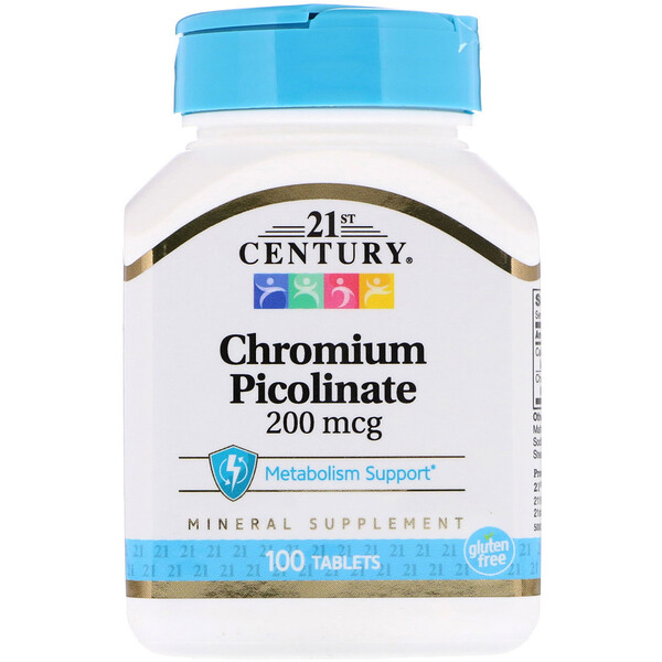 Chromium Picolinate, 200 mcg, 100 Tablets