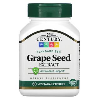 21st Century, Grape Seed Extract, Standardized, 60 Vegetarian Capsules
