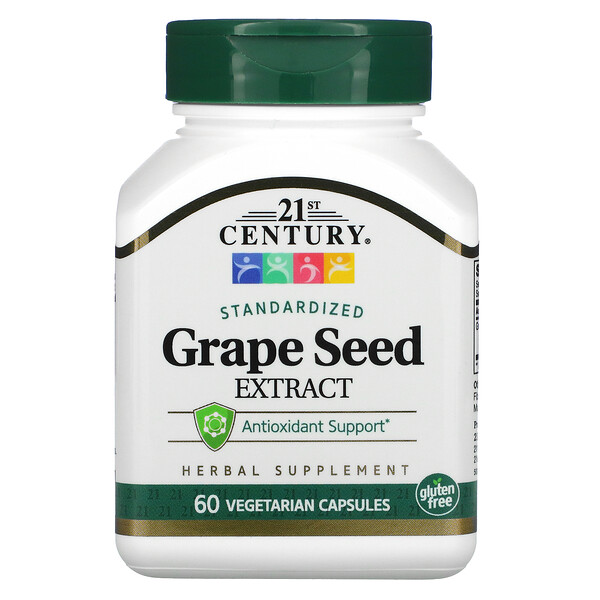 Grape Seed Extract, Standardized, 60 Vegetarian Capsules