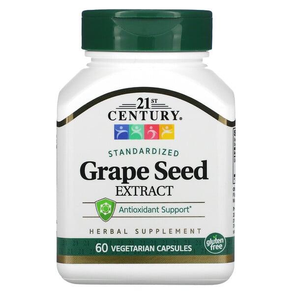 葡萄籽提取物,標準化,60 粒素食膠囊