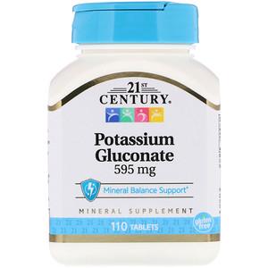 21 Сенчури, Potassium Gluconate, 595 mg, 110 Tablets отзывы покупателей
