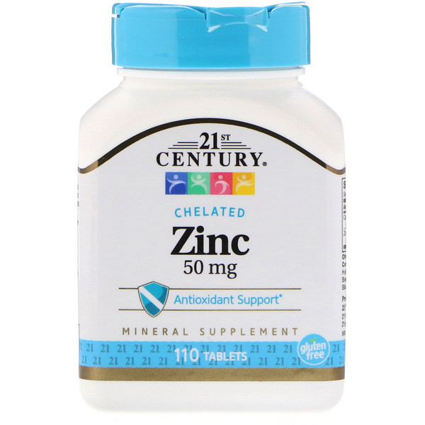 21st Century, Zinc, 50 mg, 110 Tablets