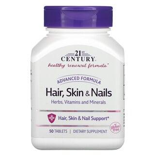 21st Century, Hair, Skin & Nails, Advanced Formula, 50 Tablets