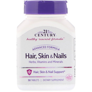 21 Сенчури, Hair, Skin & Nails, Advanced Formula, 50 Tablets отзывы