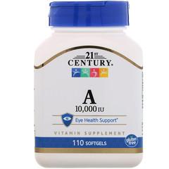"21st Century, ""Vitamin A, 10.000 IU, 110 Weichgelee"""