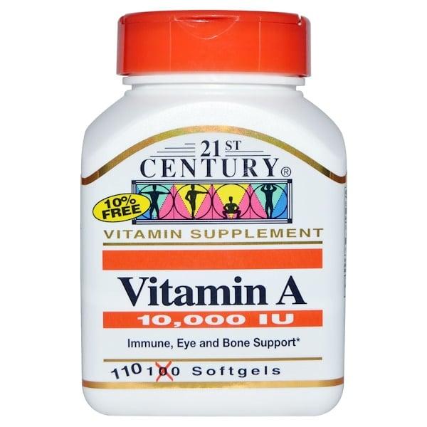 21st Century, Витамин A, 10,000 МЕ, 110 гелевых капсул