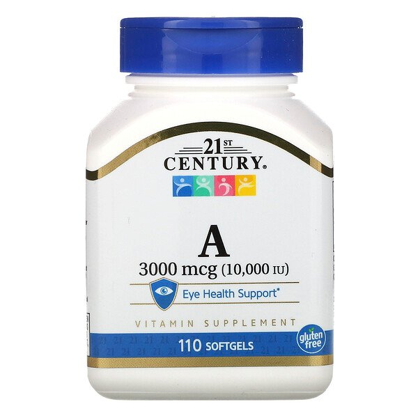 Vitamin A, 3,000 mcg (10,000 IU), 110 Softgels