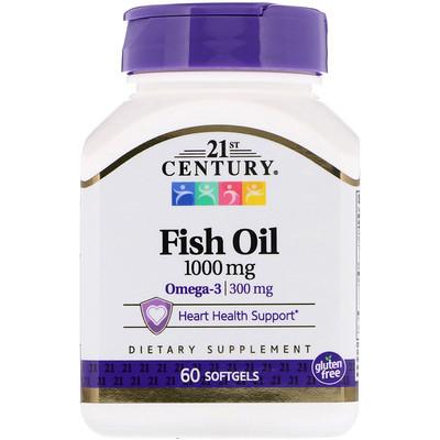 Рыбий жир, 1000 мг, 60 мягких желатиновых капсул efagold мега дгк 1000 мг 60 мягких желатиновых капсул