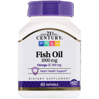 21st Century, Fish Oil, 1000 mg, 60 Softgels