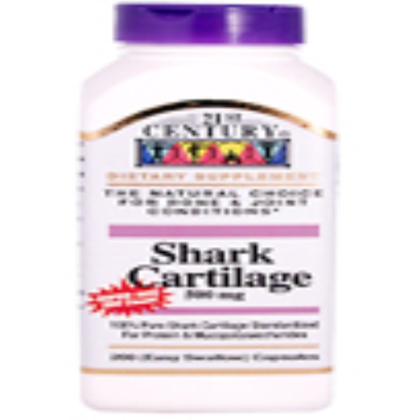 21st Century, Shark Cartilage, 500 mg, 200 Easy Swallow Caps (Discontinued Item)