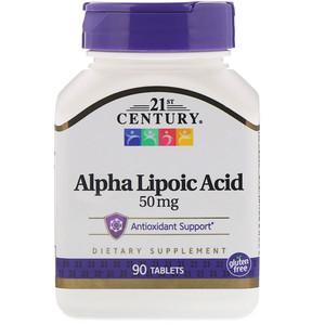 21 Сенчури, Alpha Lipoic Acid, 50 mg, 90 Tablets отзывы