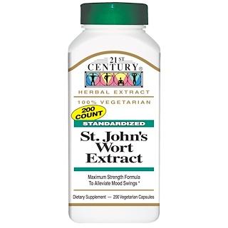 21st Century, St. John's Wort Extract, 200 Veggie Caps