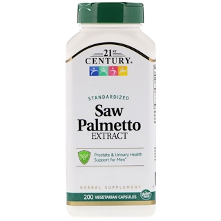 21st Century, Saw Palmetto Extract, Standardized, 200 Vegetarian Capsules